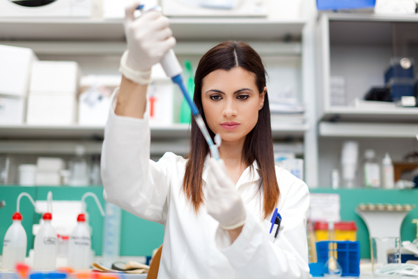 researcher working in a laboratory