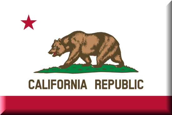 California state flag, medical clinics