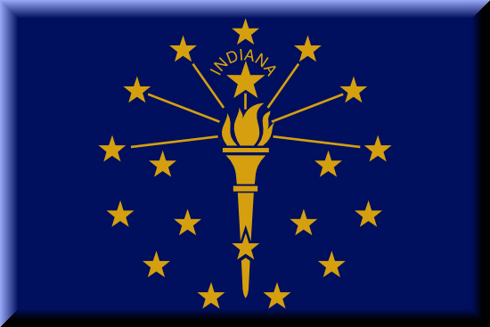 Indiana state flag, medical clinics