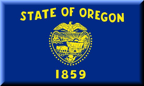 Oregon state flag, medical clinics