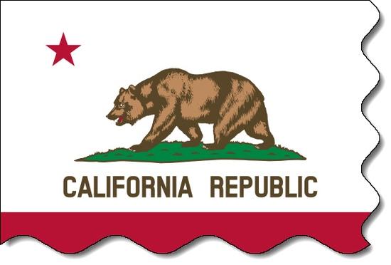 California state flag, medical clinics