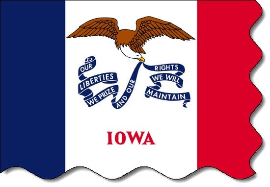 Iowa state flag, medical clinics
