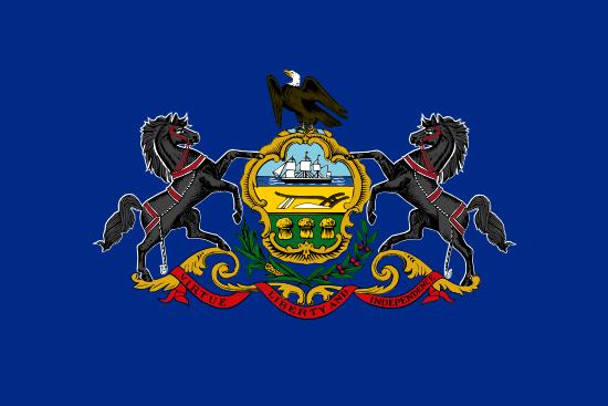 Pennsylvania state flag, medical clinics