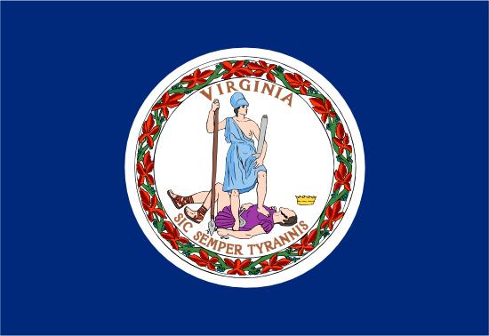 Virginia state flag, medical clinics