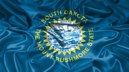 South Dakota state flag, medical clinics