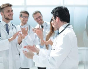 applauding group of doctors 300x234